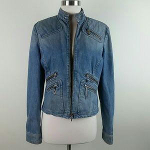 St. John Sport Denim Zip Jacket
